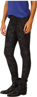 7 For All Mankind The Skinny in Black/Grey Jacquard