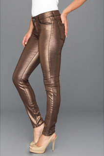 7 For All Mankind The Skinny in Liquid Metallic Copper