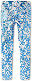 7 For All Mankind The Skinny Jean in Ethnic Geo Blue