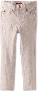 7 For All Mankind The Skinny Jean in Pink Gold Snake