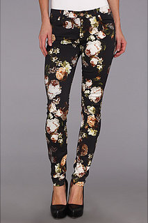 7 For All Mankind The Skinny w/ Contoured Waistband in Night Time Floral