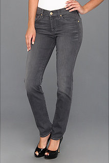 7 For All Mankind The Slim Cigarette in Grey Sateen