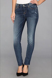 7 For All Mankind The Slim Cigarette in Light Destroy w/ Chevrons