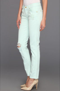 7 For All Mankind The Slim Cigarette in Light Moss