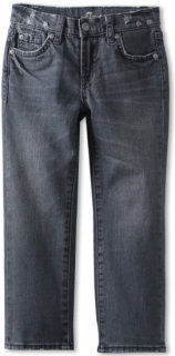 7 For All Mankind The Standard Jean in Grey Distressed