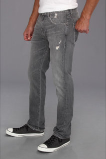 7 For All Mankind The Straight in Grey Distressed