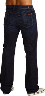 """7 For All Mankind Austyn Relaxed Straight 36"""" Long in Los Angeles Dark"""