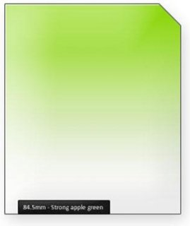 84.5mm Strong Apple Green Graduated Color Filter