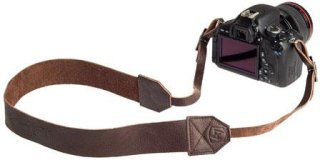 """A7 Lincoln Leather Camera Strap 36-46"""" Length Chocolate"""
