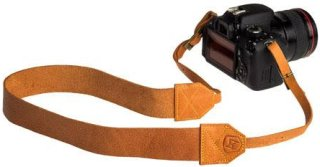 """A7 Lincoln Leather Camera Strap 36-46"""" Length Tan"""