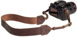"A7 Morgan Leather Camera Strap 42-52"" Length Chocolate"