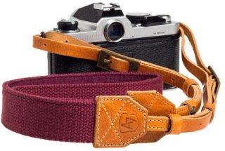 """A7 Porter Canvas/Suede Camera Strap 42-52"""" Length Burgundy"""