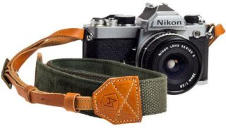 "A7 Porter Canvas/Suede Camera Strap 42-52"" Length Olive"