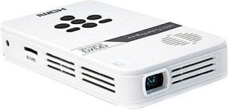 AAXA Technologies LED Pico Portable Pocket Projector 25 Lumens qHD (960x540) 1000:1 Contrast Ratio 16:9 Aspect Ratio 1W Speaker USB 2.0