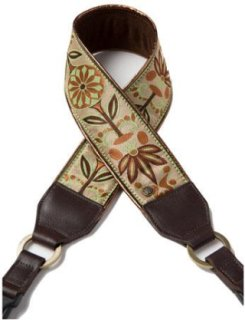 Abie Designs Color Me Happy Collection Bronze Pinwheels Designer Camera Strap