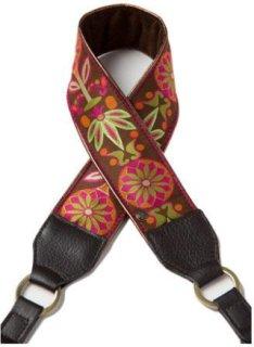 Abie Designs Color Me Happy Collection Chocolate Pinwheels Designer Camera Strap