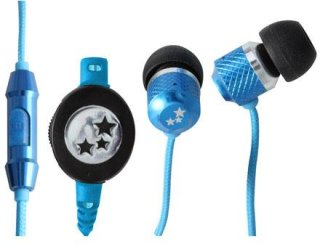 Able Planet Musician's Choice SI170BL In-Ear Headphones 20 Hz-20 KHz Frequency Range 2mW Power Neon Blue