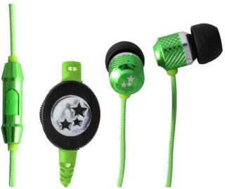 Able Planet Musician's Choice SI170GR In-Ear Headphones 20 Hz-20 KHz Frequency Range 2mW Power Green