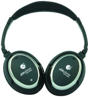 Able Planet NC350BC True Fidelity Around the Ear Active Noise Cancelling Headphone LINX Audio Technology Black/Chrome