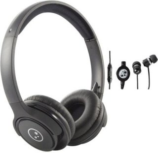 Able Planet SH180BMM-SI170B Musicians' Choice Over-the-Ear Stereo Headphones 20 Hz - 20 kHz Frequency Range Black