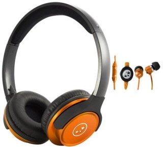 Able Planet SH180ORM-SI170OR Musicians' Choice Over-the-Ear Stereo Headphones 20 Hz - 20 kHz Frequency Range Orange