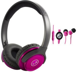 Able Planet SH180PKM-SI170PK Musicians' Choice Over-the-Ear Stereo Headphones 20 Hz - 20 kHz Frequency Range Pink
