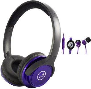 Able Planet SH180PRM-SI170PR Musicians' Choice Over-the-Ear Stereo Headphones 20 Hz - 20 kHz Frequency Range Purple