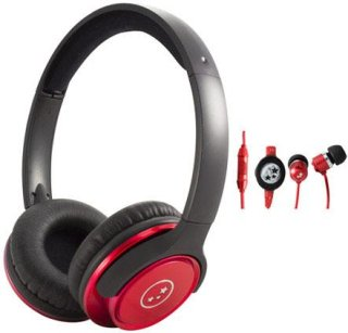 Able Planet SH180RDM-SI170RD Musicians' Choice Over-the-Ear Stereo Headphones 20 Hz - 20 kHz Frequency Range Red