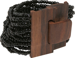 About Color Wood Buckle Cuff