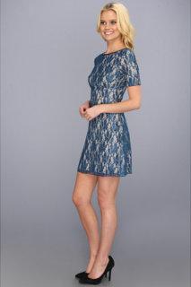 ABS Allen Schwartz Boatneck Lace Shift Dress