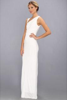 ABS Allen Schwartz Gathered Bodice Sleeveless Gown