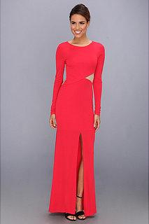 ABS Allen Schwartz L/S Gown w/ Triangle Insets