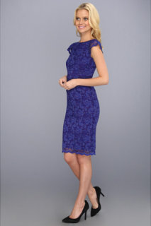 ABS Allen Schwartz Lace Dress With Exposed Back Zipper