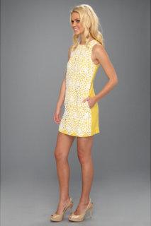 ABS Allen Schwartz Linen Textured W/ Lace Overlay