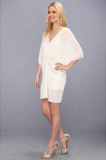 ABS Allen Schwartz Sequin V-Neck Shirred Tulip Dress