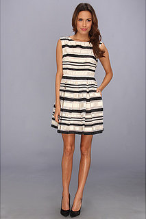 ABS Allen Schwartz Striped Fit and Flare w/ Open Back