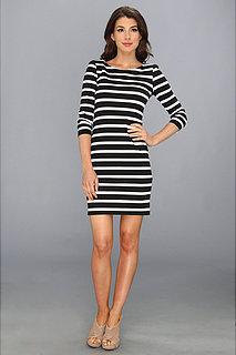 ABS Allen Schwartz Striped T-Shirt Dress