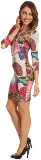 ABS Allen Schwartz Three-Quarter Sleeve Boatneck Tee Dress