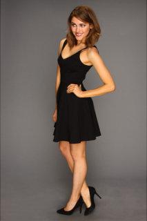 ABS Allen Schwartz V-Neck A-Line Flounce Dress