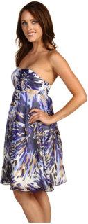 ABS Allen Schwartz Strapless Empire Waist Dress