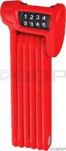 Abus Bordo LITE 6150 Combo Folding Lock: 85cm Red