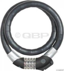 Abus Steel-O-Flex Raydo 1460 Combo Armored Cable Lock: Black