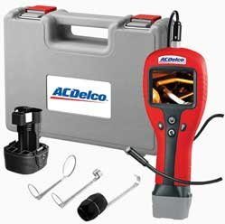 Ac Delco Digital Inspection Camera with 3 Pc Accessory Kit 6V Alkaline Battery