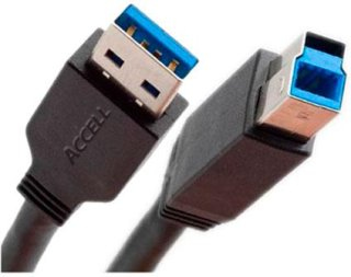 Accell 6' USB 3.0 SuperSpeed A/B Plug Cable