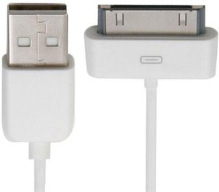 Accell 4' USB to Dock Connector Sync/Charge Cable for Apple iPod iPhone and iPad