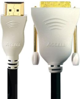 Accell UltraAV 3.3' Standard HDMI Cable with DVI Connector