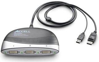 Accell UltraAV DisplayPort to DVI Multi-Monitor Adapter Connects 3 DVI-D Monitors to 1 DisplayPort Connector