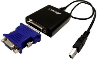 Accell UltraVideo USB 2.0 to DVI-I/VGA Video Adapter