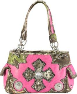 Accessories Plus Camo Cross and Concho Handbag