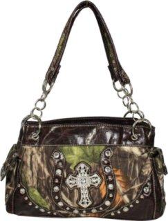 Accessories Plus Camo Cross and Horseshoe Handbag